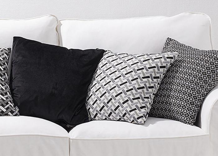 Jaquard vävd tyger i kollektionen Black&White