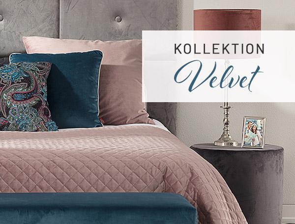 Många vackra färger i sammet i Velvet-kollektionen